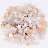 200g Wholesale Bulk Tumbled Stones White Agate Crystal Healing Mineral Decor