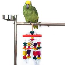 Parrot Toy Wooden Hanging Toy Rope Rawhide Bird Cockatiel Pet Swing Chew Toy