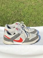 Nike Renzo 2 Men's Leather Red Grey Suede Shoes 454291-061 Size 7.5 US