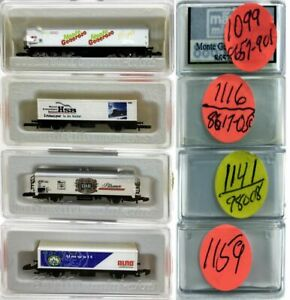 MARKLIN Z SCALE M/M 1099-1116-1141-1159  4 COLLECTOR 2-Axle Tank Cars Boxes C8