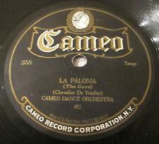 Cameo 358 78 RPM record Cameo Dance Orchestra - La Paloma / La Golondrina
