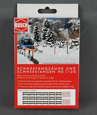 Busch 1120 H0 Bausatz - Schneefangzäune und Schneestangen - NEUWARE!