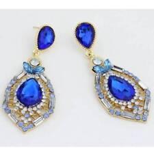 Women Luxury Elegant Rhinestone Big Drop Earrings Wedding Party Jewelry NEW