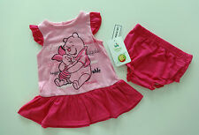 Kleid~USA~Disney~62-68~2 tlg.Kleidchen~Winnie Pooh~PUUh~Babykleid~Spieler~Ferkel