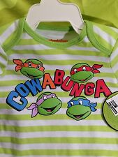 Infant Teenage Mutant Ninja Turtles 6/9 Months Cowabung Dude   NWT'S One Piece