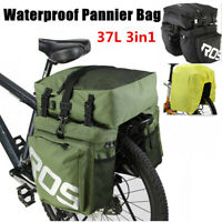 Roswheel 37L Waterproof 3 in 1 Cycling Bicycle Rear Rack Bike Pannier Seat Bag
