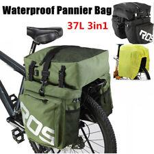 37L Impermeable 3 en 1 Ciclismo Bicicleta Bolsa de Asiento Trasero Rack para bicicletas Alforja cubierta de la lluvia