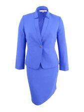 Tahari ASL Women's Star-Neck Skirt Suit