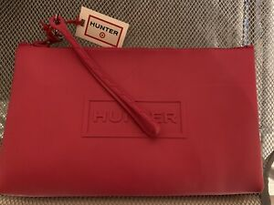 Hunter for Target Large PINK Pouch Bag wristlet purse clutch