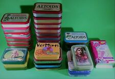 29 Empty Tins. Altoids and Others Useful For Craft Projects or Geocaching Mints