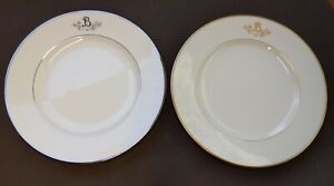 "X2 PRINCESS HOUSE EXCLUSIVE HERITAGE ""B"" MONOGRAM 10"" plates Gold& Silver"