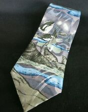 """Florence & K. Inc Whale Mens Oceanic Classic 58"""" Tag Removed Necktie Tie"""