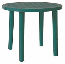 Resol Tossa Round Plastic Garden Family Dining Outdoor Table 86cm Green
