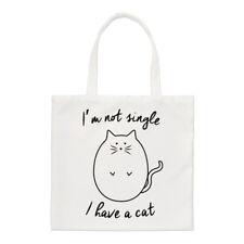 I'm Not Single I Have A Cat Small Tote Bag - Crazy Cat Lady Funny Shoulder