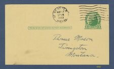 Advertising postal card mailed from Washington Stamp Company, Seattle, in 1933