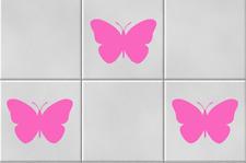 Butterflies Vinyl Wall Tile Stickers Decals Kitchen Bathroom Home Decor pink