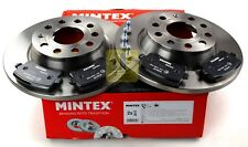 MINTEX REAR AXLE BRAKE SET DISCS, PADS FOR AUDI VW MDK0258 (REAL IMAGE OF PART)