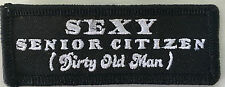 Sexy senior citizen ( Dirty Old Man ) embroidered cloth patch.  A030407