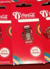 LONDON 2012 OLYMPICS COCA COLA WELCOME TO THE GAMES PIN USA TELEPHONE BOX