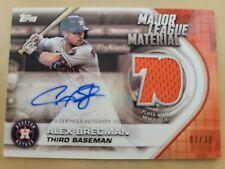 2021 Topps Series 2 Major League Material Autographs #MLMAABR Alex Bregman 1/30