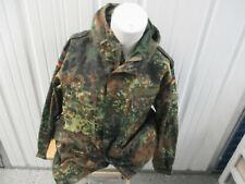 VINTAGE GERMANY ARMY ISSUE CAMOUFLAGE ZIP-UP PARKA HOODIE LARGE JACKET 1998