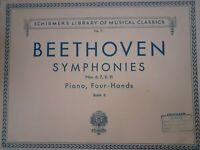 Partituras SCHIRMER'S Library Of Musical 1894 Beethoven Piano Four-Hands