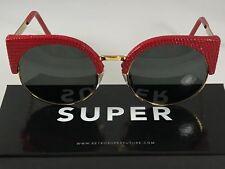 Sale RetroSuperFuture Ilaria Red Lizard Frame Super 924 53mm Nib