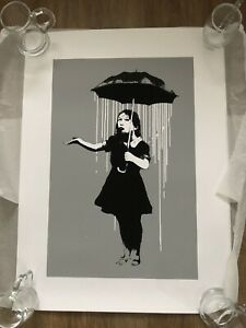 NOLA BANKSY White Rain un signed West Country Prince [WCP] Edition xxx/500