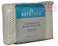 BATH & SPA PILLOW WITH SUCTION CUPS -  FOR BATHS, JACUZZIS, WHIRLPOOLS ETC