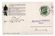 NORWAY/POLAR: Postcard to Denmark from Fram, Amundsen, Polhavet 1914, scarce(B7)