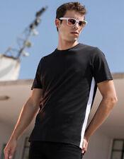 Contraste Camiseta de Hombre Cuello Redondo Manga Corta 100% Algodón XXS - XXL