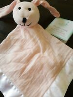 Aden Anais Solid Winter light pink Muslin Lovey Security Blanket Bunny Rabbit