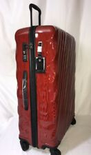 Tumi 19° Extended Trip Packing Case Luggage Suitcase Large Rolling Red Orange