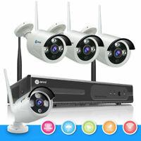 Wireless 8CH 1080P NVR IR-cut 720P Outdoor Home Security IP Camera System CCTV
