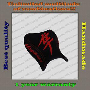 Design Front Seat Cover Suzuki Hayabusa 08+ HANDMADE black-suede+red-suede 001