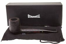 Stanwell De Luxe 97 Black Tobacco Pipe - Sandblast