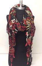 Scarf Lady Vintage Women Long Soft Voile Print Scarves Shawl Wrap Pashmina Stole