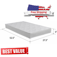 "Child Crib Mattress Firm Baby Toddler Waterproof Bed Infant Comfort 52.5""x 27.5"""