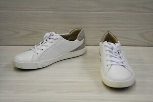 Naturalizer Morrison Comfort Leather Sneakers, Women's Size 12 W, White NEW