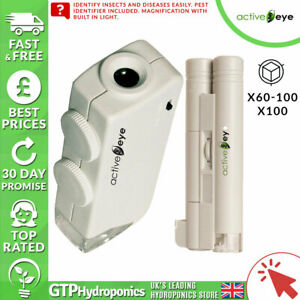 Active Eye Illuminated Microscope - 60X – 100X Magnification - Hydroponics