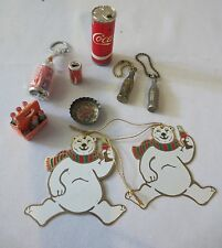Vintage Lot Coca-Cola Lighter~ Mini Bottles ~Cans~Cap Ornaments, metal bottles