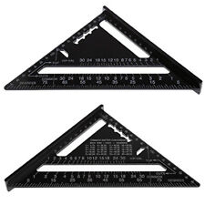 "7"" Metric Aluminum Alloy Square Roofing Triangle Set 45°Square Angle Protractor"