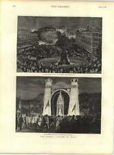 1887 Queens Jubilee In India Bombay Illuminations Rampart Row