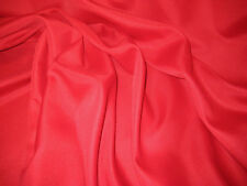 "RED 100% POLYESTER PONGEE FABRIC 70"" WIDE BY THE YARD"