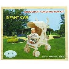 3D Wood Construction Puzzle Small - Baby Stroller