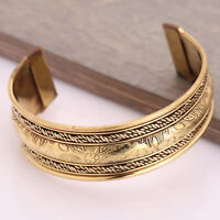 Pure Copper Brass Cap Adjustable Bracelet Cuff Wristlet Wristband Men Women