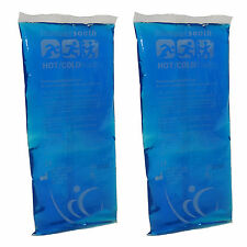 Twin Pack of Rectangular Reusable Pain Relief Premium Hot Heat/Cold Ice Packs