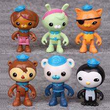 Cute Octonauts 6Pcs PVC Figures Barnacles Peso Kwazii Dashi Tweak Toys Doll