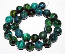 "6mm Azurite Chrysocolla Round Loose Beads Gemstone 15"" ##AY143"