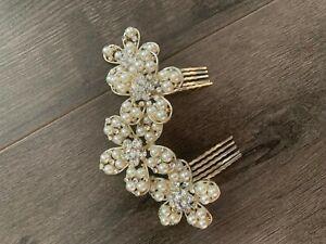 pearl and crystal hair grip